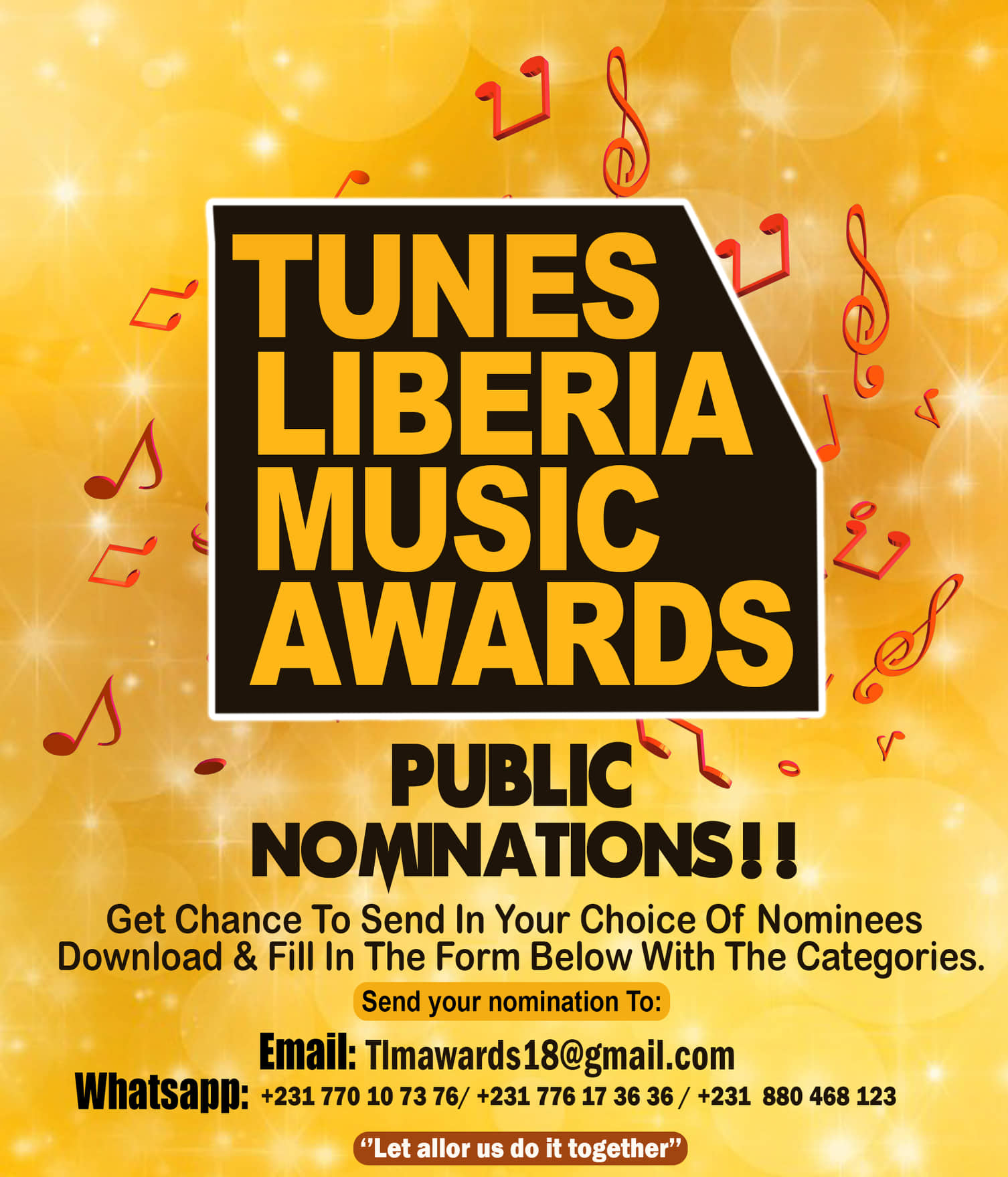Public nominations for the #TLMA2018.. Read flyer for more informations